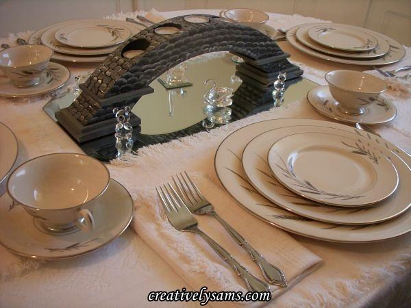 Memories of Aunt Millie tablescape