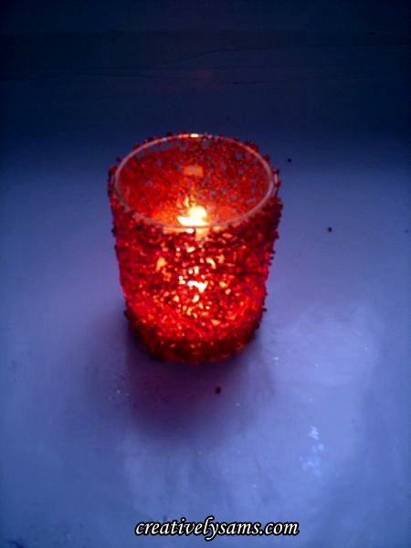 Beaded Candle Lit Up