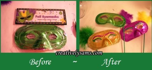 Mardi Gras Mask Before ~ After