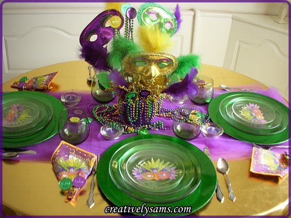 Mardi Gras Tablescape & Mardi Gras TablescapeCreatively Samu0027s
