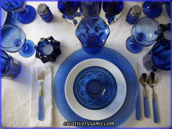 Cobalt Blue Place Setting
