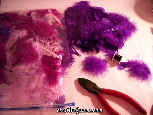 Feather Sprays-Tutorial Supplies