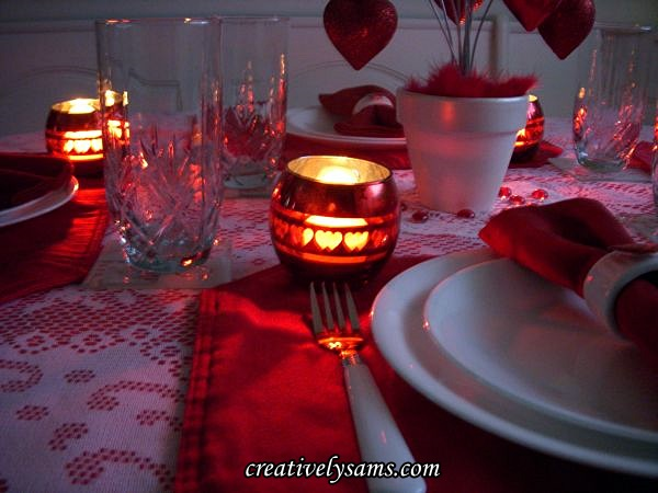 Valentine Love Tablescape Candles
