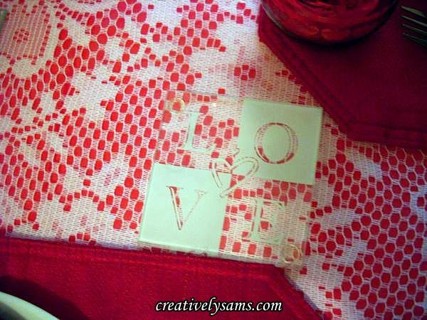 Valentine Love Tablescape Coasters