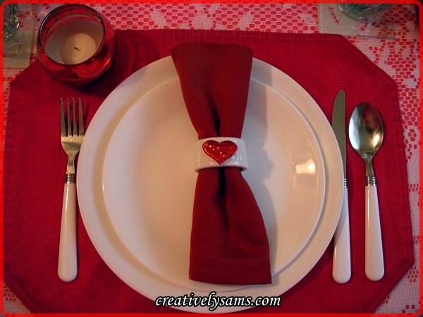 Valentine Love Tablescape Place Setting