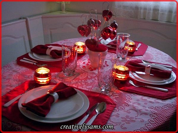 Valentine Love Tablescape