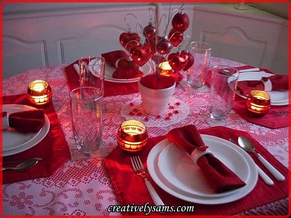 Valentine Love Tablescape