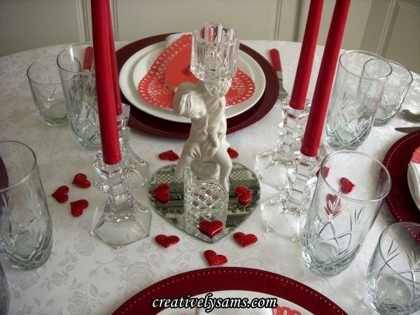 Valentine's Tablescape Centerpiece