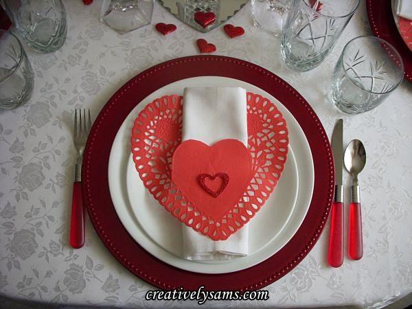 Valentine's Place Setting