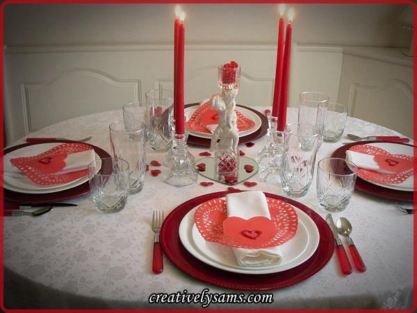 Valentine's Tablescape.Lit.