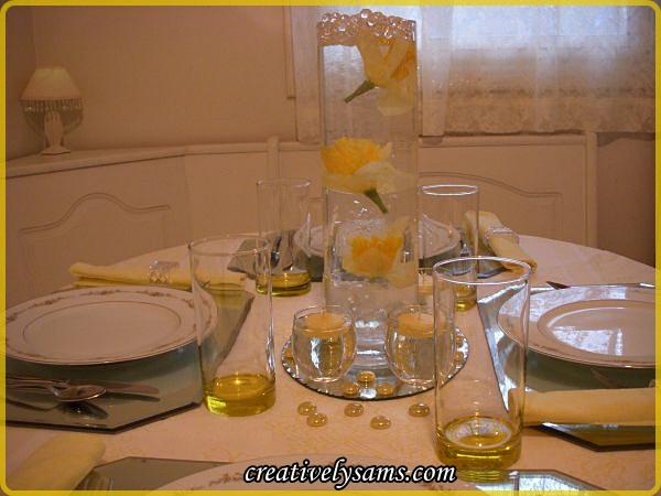 Sunshine and Roses Centerpiece