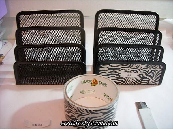 Office Bling & Zebra Duck Tape