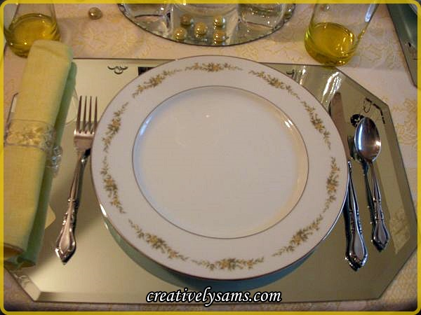 Sunshine and Roses Place Setting