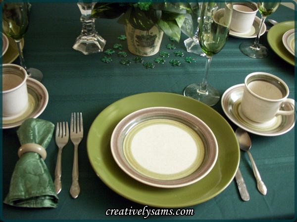 St. Paddy's Day Tablescape  Place Setting