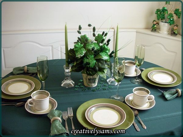 St. Paddy's Day Tablescape-.