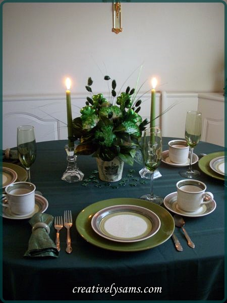 St. Paddy's Day Tablescape