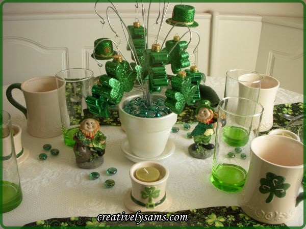 St. Pat's Tablescape Centerpiece