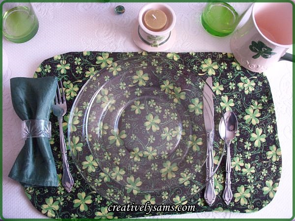 St. Pat's Tablescape Place Setting