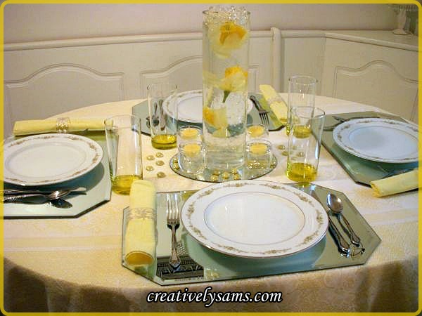 Sunshine and Roses Tablescape