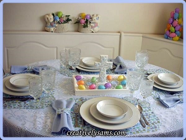Easter Eggs Tablescape