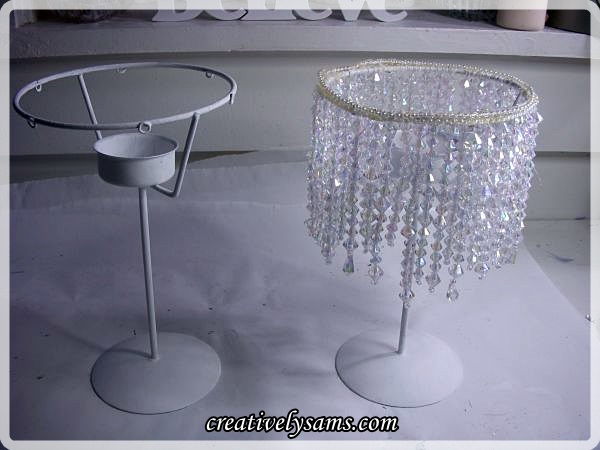 Beaded Tea Light Holder