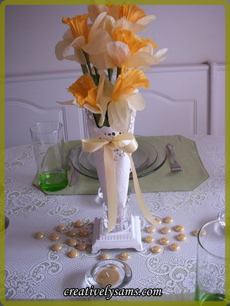 May Day Tablescape Centerpiece