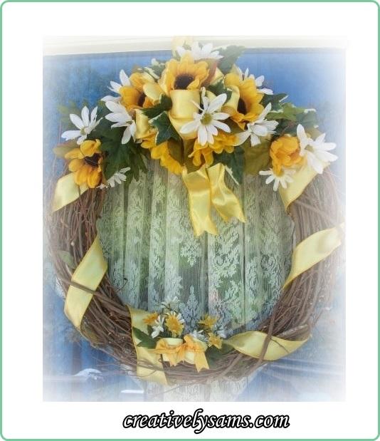 Sunflower & Daisy Wreath