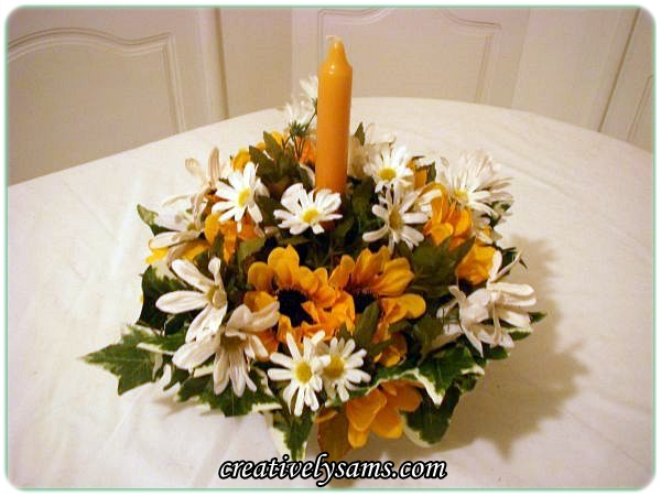 Sunflower & Daisy Centerpiece