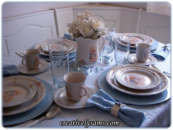 Dinner With Teddy Tablescape