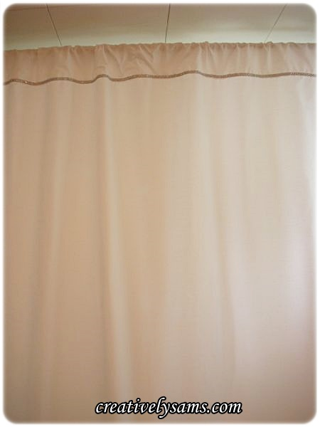 Shower Curtain from bed sheets
