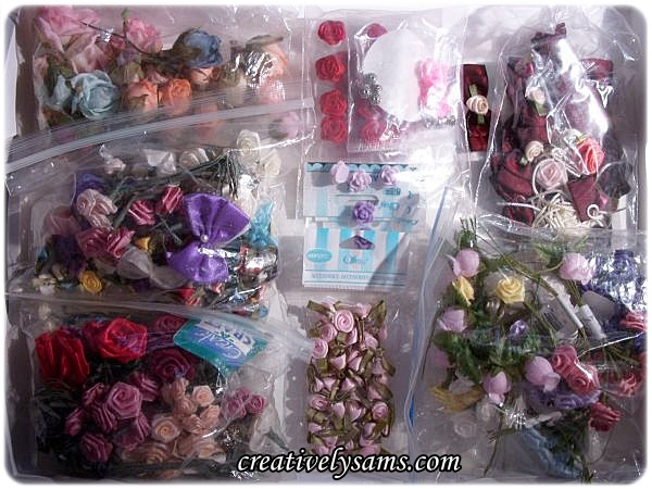 Organizing Ribbon Roses