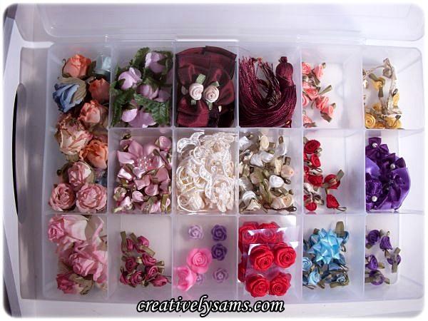 Organizing Ribbon Roses