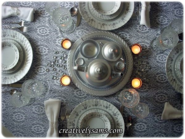 Shades of Grey Tablescape