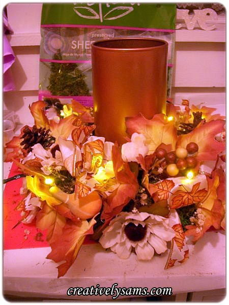 Dollar Tree Fall Centerpiece