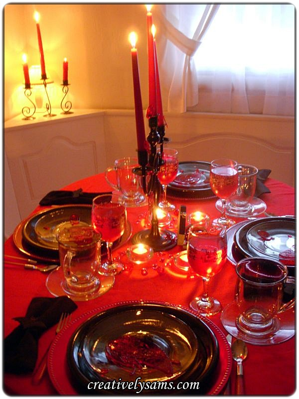 Bloody Halloween Tablescape