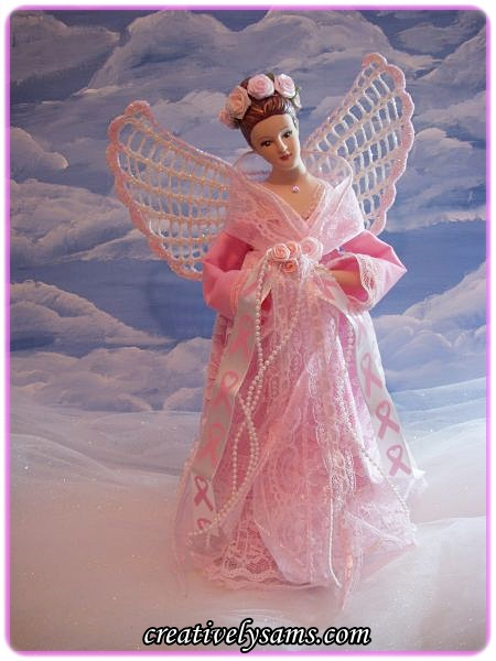 Breast cancer awareness angel Etsy