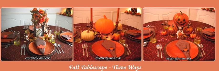 Fall Tablescape-3 Ways