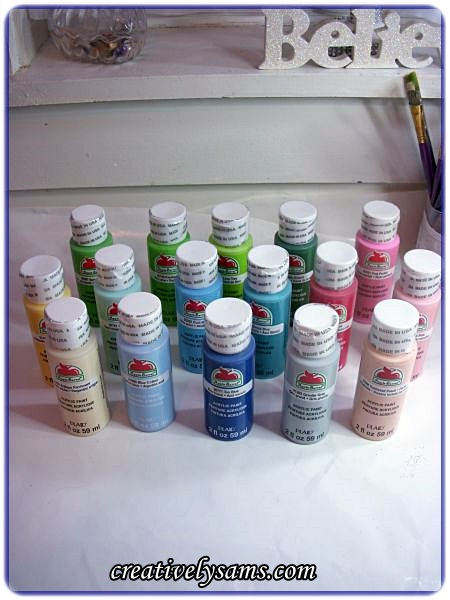 Apple Barrel Paint Haul