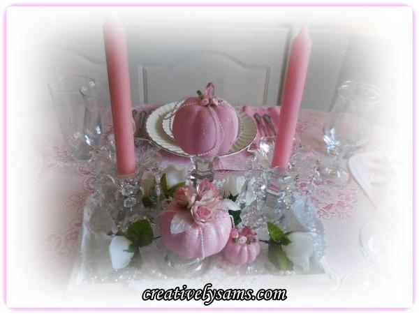 Pumpkins & Roses Centerpiece
