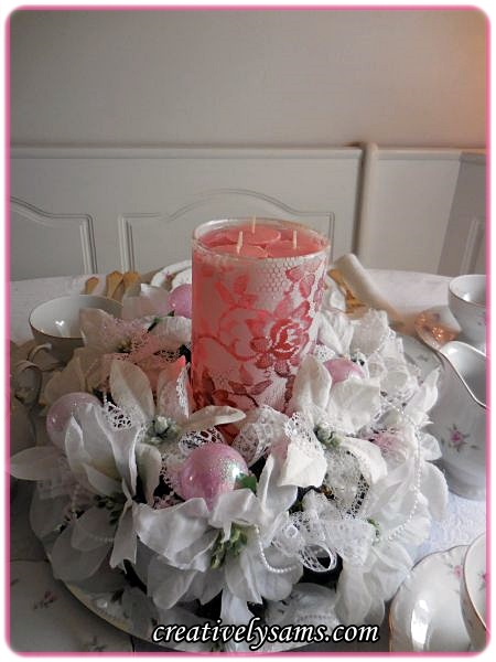 A Pink Shabby Chic Christmas Tablescapecreatively Sam S