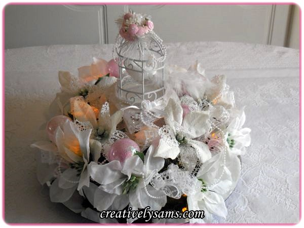 Pink Shabby Chic Centerpiece