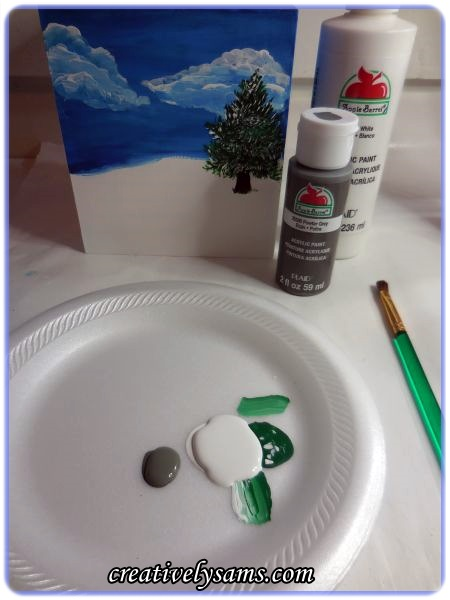 Christmas Tissue Box-Snowmen