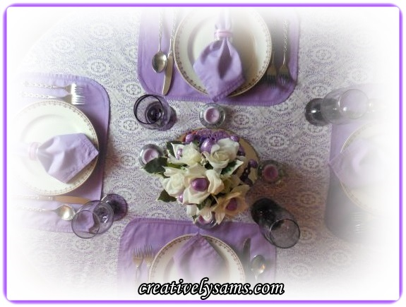Purple Tablescape for Easter