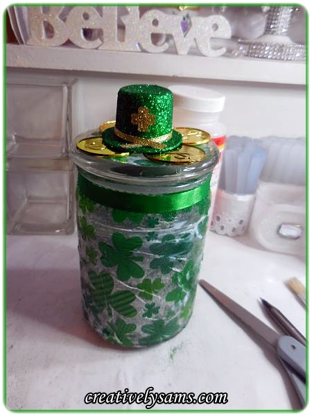 St. Patrick's Day Candle