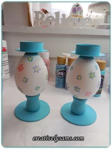 Easter Egg Candle Holders