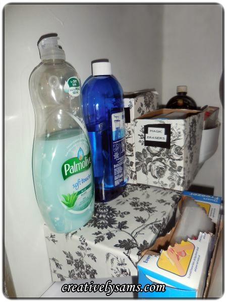 Organizing Under the Kitchen Sink