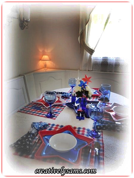 Red, White & Blue Tablescape