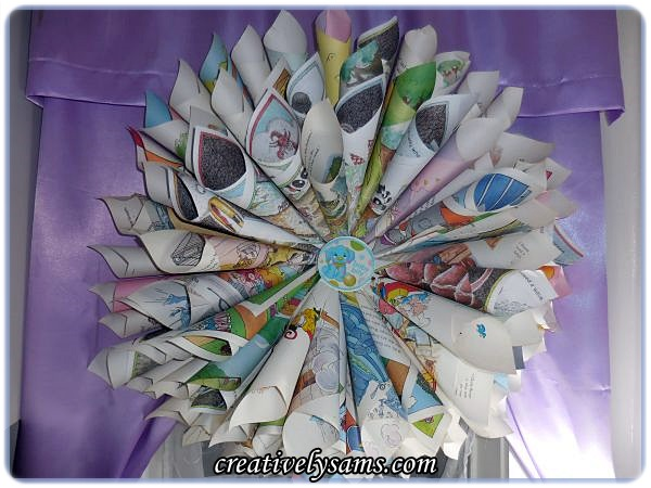 Baby Book Wreath