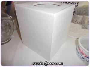 DIY Bling Tissue Box