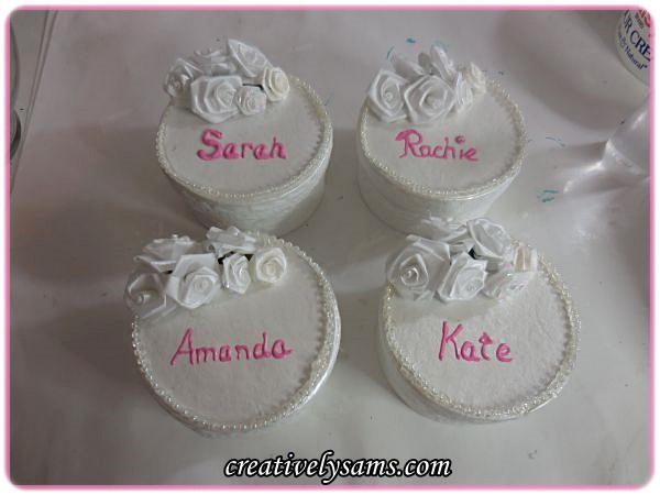 Birthday Cake Favors/Placeholders